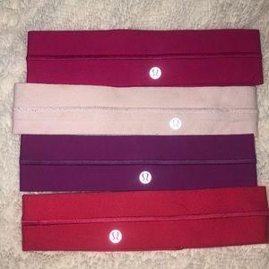 4 sets of lululemon head bands (each $14)